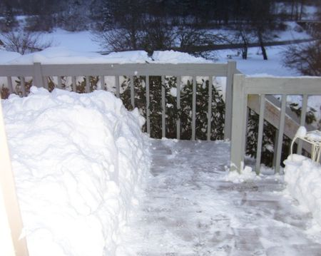 Snow on deck 6